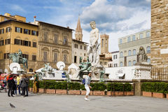 Fountain of Neptune in Florence, Royalty Free Stock Photos