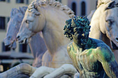 Fountain of Neptune, Florence Stock Image
