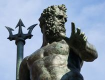 Fountain of Neptune, Fontana del Nettuno, Bologna, Italy stock photography