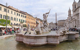 The Fountain of Neptune is a fountain in Rome Stock Image