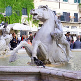 The Fountain of Neptune is a fountain in Rome Royalty Free Stock Image