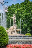 Fountain of Neptune Fuente de Neptuno one of the most famous l Stock Photos