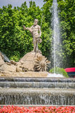 Fountain of Neptune Fuente de Neptuno one of the most famous l Stock Photography