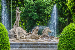 Fountain of Neptune Fuente de Neptuno one of the most famous l Royalty Free Stock Images