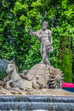 Fountain of Neptune Fuente de Neptuno one of the most famous l Royalty Free Stock Image