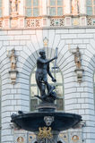 Fountain of the Neptune in Gdansk Royalty Free Stock Photos