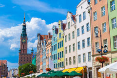 Fountain of the Neptune in Gdansk Royalty Free Stock Images