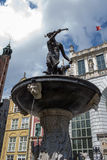 Fountain Neptune in Gdansk. Royalty Free Stock Photography