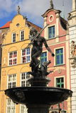Fountain of Neptune. Fountain of the Neptune in Gdansk , Poland Royalty Free Stock Images