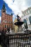 Fountain of Neptune, Gdansk Stock Images