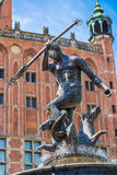 Fountain of Neptune in Gdansk, Poland Stock Photography
