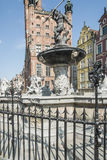 Fountain of neptune gdansk poland europe Stock Photography