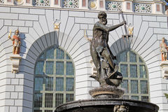 Fountain of Neptune in Gdansk, Poland Royalty Free Stock Photos