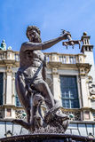 Fountain of Neptune in Gdansk, Poland Stock Images