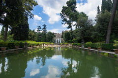 The Fountain of Neptune. Iconic landmark in Villa d`Este, Tivoli, Italy Royalty Free Stock Image