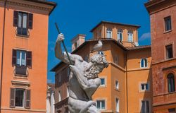 The Fountain of Neptune, Italy. Stock Photos