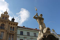 Fountain of Neptune, Liberec Royalty Free Stock Photography