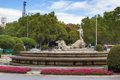 Fountain of Neptune, Madrid Stock Photography