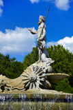 The fountain of Neptune in Madrid, Spain Stock Image