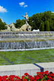 The fountain of Neptune in Madrid, Spain Royalty Free Stock Photos