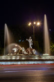 The fountain of Neptune in Madrid Stock Image