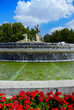 The fountain of Neptune in Madrid, Spain Stock Images