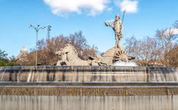 Fountain of Neptune in Madrid, Spain. Stock Photo