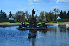 Fountain Neptune in Peterhof, St. Petersburg, Russia. Fountain Neptune in top garden Peterhof, St. Petersburg, Russia Royalty Free Stock Images