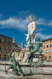 Fountain of Neptune on Piazza della Signoria in Florence Stock Photo