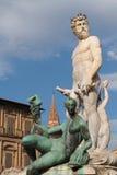 Fountain of Neptune on Piazza della Signoria Royalty Free Stock Images