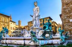 Fountain Neptune in Piazza della Signoria in Florence Royalty Free Stock Image