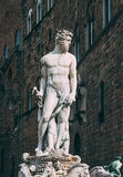 Fountain Neptune in Piazza della Signoria in Florence Royalty Free Stock Photography