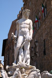 Fountain of Neptune on the Piazza della Signoria in Florence Royalty Free Stock Photos