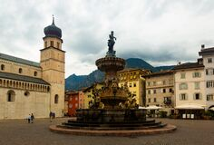 Fountain of Neptune on Piazza Duomo in Trento