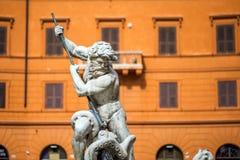 Fountain of Neptune, Fontana del Nettuno, Rome. Fountain of Neptune in piazza Navona, Roma, Italy royalty free stock photo