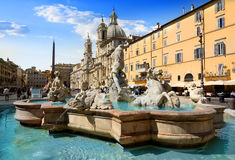 Fountain of Neptune Stock Image