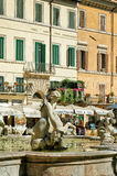 Fountain of Neptune in Piazza Navona in Rome in Italy Stock Photography