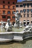 Fountain of Neptune, Piazza Navona, Rome, Italy. Piazza Navona is a city square in Rome, Italy. It is built on the site of the Stadium of Domitian, built in 1st Royalty Free Stock Photos