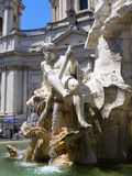 Fountain of Neptune, Piazza Navona, Rome, Italy Stock Photo