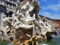 Fountain of Neptune, Piazza Navona, Rome, Italy Stock Photography