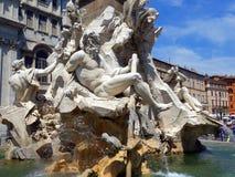 Fountain of Neptune, Piazza Navona, Rome, Italy. Fountain of Neptune, Fontana de Nettuno, Piazza Navona, Rome, Italy Stock Photography