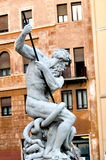 Fountain of the Neptune, Piazza Navona in Rome Italy Stock Images