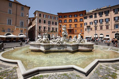 Fountain of Neptune  in Piazza Navona Royalty Free Stock Photo