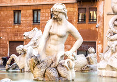 Fountain of Neptune. Roma. Italy. Stock Images