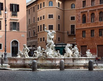 Fountain of the Neptune  in Rome. Fountain of the Neptune on the area of Navona in Rome, Italy Royalty Free Stock Photo