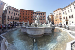 Fountain of Neptune, Rome Royalty Free Stock Photo