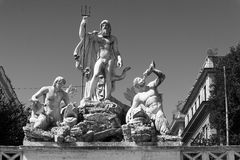Fountain of Neptune in Rome, Italy. Stock Photos