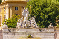 Fountain of Neptune in Rome, Italy. Royalty Free Stock Image