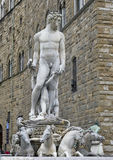 Fountain of Neptune situated on the Piazza della Signoria. The Fountain of Neptune is situated on the Piazza della Signoria in Florence, Italy.  It was Royalty Free Stock Photography