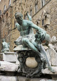 Fountain of Neptune situated on the Piazza della Signoria Stock Images